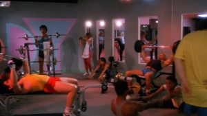 Really cool people, working out.